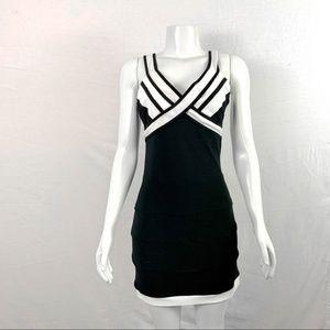 JOSEPH RIBKOFF Black White Sleeveless Dress Sz 8